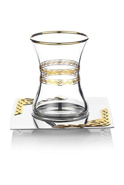 Schafer Mittag Çelik Çay Seti - 40 Parça - Altın