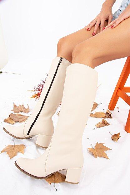 Fox Shoes Bej Kadın Çizme A654252709