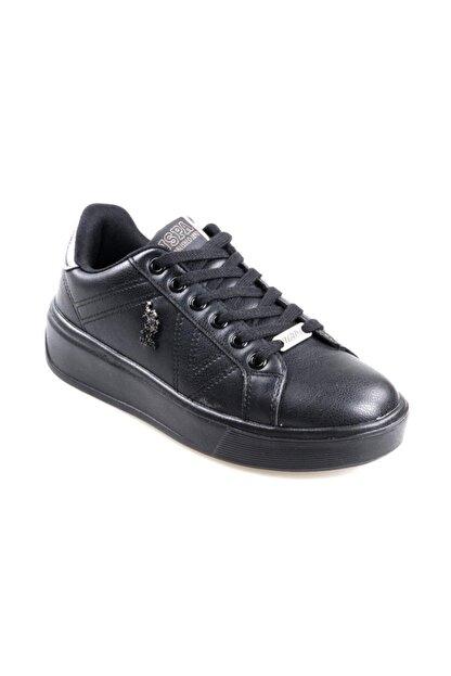 US Polo Assn Unisex Çocuk Siyah Extra Sneaker Spor Ayakkabı