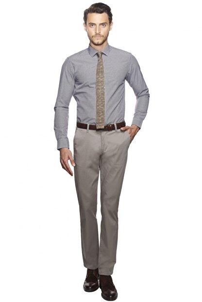 Altınyıldız Classics Erkek Mor-beyaz Slim Fit Desenli Gömlek
