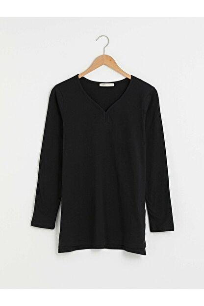LC Waikiki Kadın Yeni Siyah Tişört