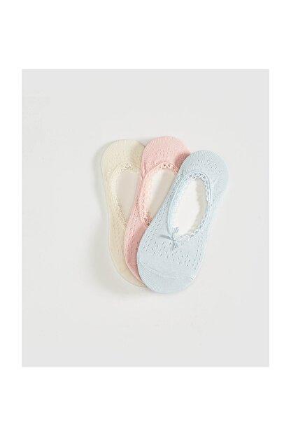 LC Waikiki Kadın Bebek Mavi Babet Çorap
