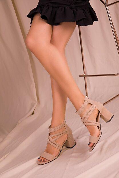 Soho Exclusive Ten Süet Kadın Klasik Topuklu Ayakkabı 14670