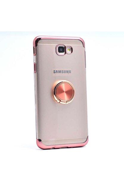 Samsung Galaxy J7 Prime Kılıf Yüzüklü Köşeleri Lazer Renkli