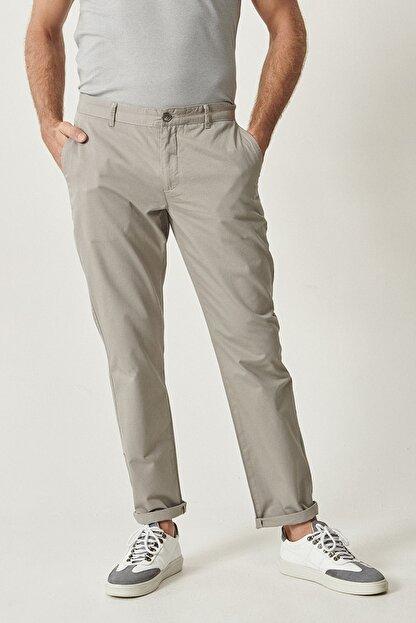 Altınyıldız Classics Erkek Açık Gri Kanvas Slim Fit Chino Pantolon