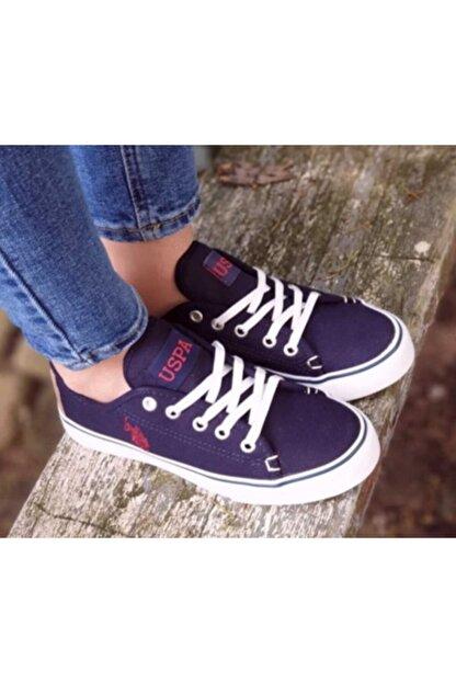 US Polo Assn TOGA 1FX Lacivert Kadın Havuz Taban Sneaker 100918926