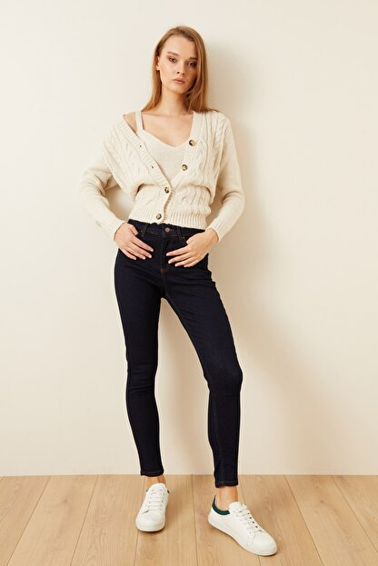 Love My Body Kadın Lacivert Cepli Skinny Jean Pantolon 153M1628000