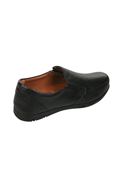 Polaris Erkek Siyah Hakiki Deri Casual Ayakkabı