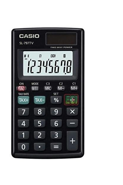 Casio Cep Tipi 8 Hane Hesap Makinesi