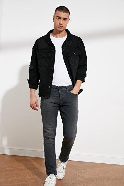 TRENDYOL MAN Antrasit Erkek Slim Fit Jeans TMNSS21JE0068