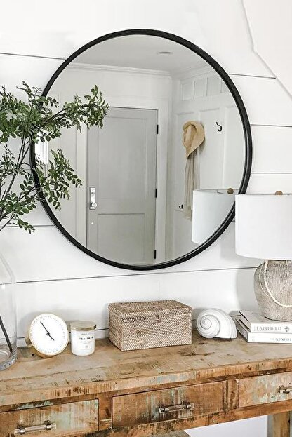 LYN HOME & DECOR Lyn Dekoratif Konsol Aynası Siyah