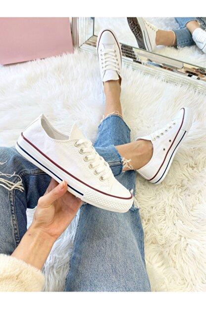 ELSESHOES Unısex Beyaz Spor Ayakkabı