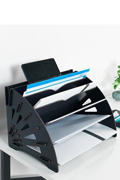 KUK Design Delcia Modern Pratik Ofis Masaüstü Organizer Düzenleyici A4 Evrak Rafı