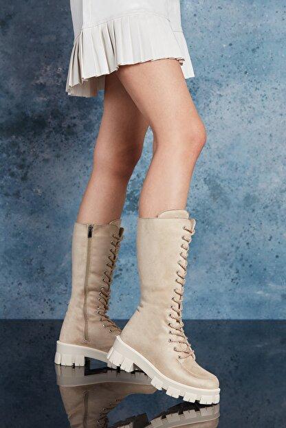 Dark Seer Bej Kadın Çizme