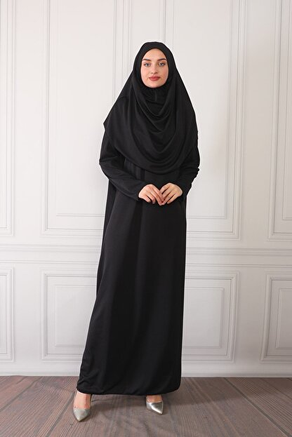 ASLINUR GİYİM Kadın Siyah Namaz Elbisesi Na545maz475825
