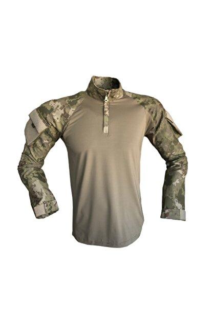 Flaş Askeri Malzeme Erkek Yeşil Tsk Yeni Kamuflaj Combat Tişört Operasyon Tişörtü
