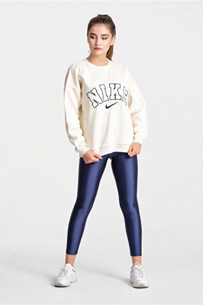 Modayıldızlar Kadın Krem Nike Yazılı Sweatshirt