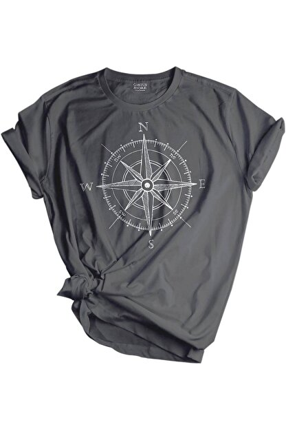 GENIUS Store Unisex Baskılı Tişört Outdoor Normal Kalıp Tshirt