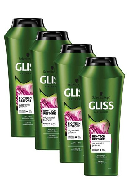 Gliss Bio-tech Güçlendirici Şampuan 500 ml 4'lü