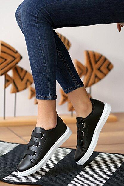 tomms Kadın Bağcık Lastik Detaylı Sneaker Spor Ayakkabı Lona-55