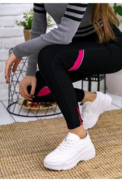 Erbilden Jare Beyaz Cilt Spor Ayakkabı