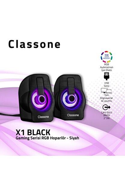 Classone X1 Black Rgb Gamıng Hoparlör-siyah