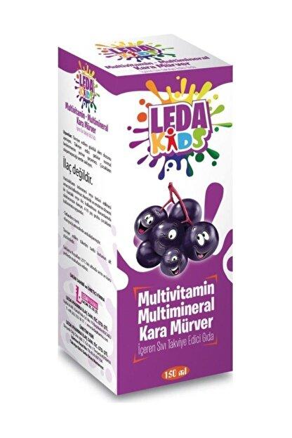 LedaPharma Unisex Kara Mürver Ekstresi C Vitamini Ve Çinko Leda Kids