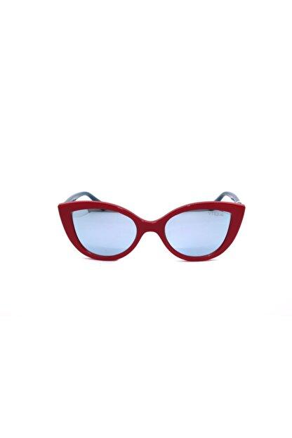 Vogue Kadın Kırmızı Çerçeveli Aynalı Gözlük Vj 2003 27756j 46 Ekartman
