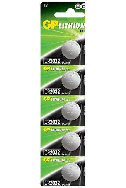 ATAELEKTRONİK 5 Adet Gp 2032 Lithium Cell Battery 3v Cr2032 Dl2032 3 Volt Garaj Kepenk Kumanda Pili