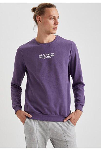 Defacto High Baskılı Bisiklet Yaka Regular Fit Sweatshirt