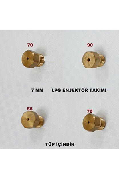 VESTEL Ocak Lpg Tüp Dönüşüm Enjektör Memeleri Takım Regal 7 Lokma Anahtar Ile Sökülür Tüp Için