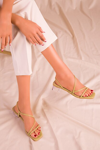 Soho Exclusive Yeşil Kadın Klasik Topuklu Ayakkabı 15822