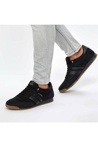 Kinetix Erkek Siyah Bağcıklı Spor Ayakkabı