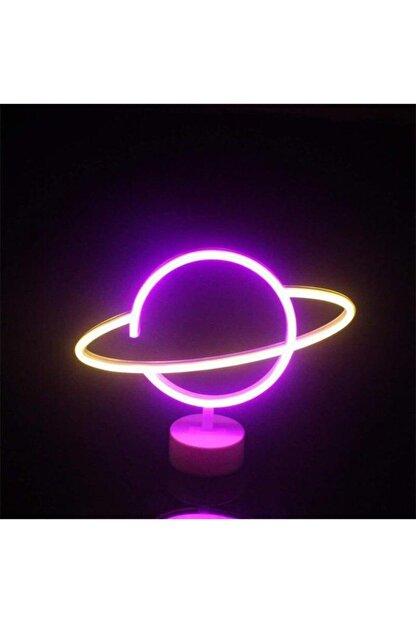 SARFEX Neon Gezegen Şekilli Led Işıklı Dekoratif Gece Lambası