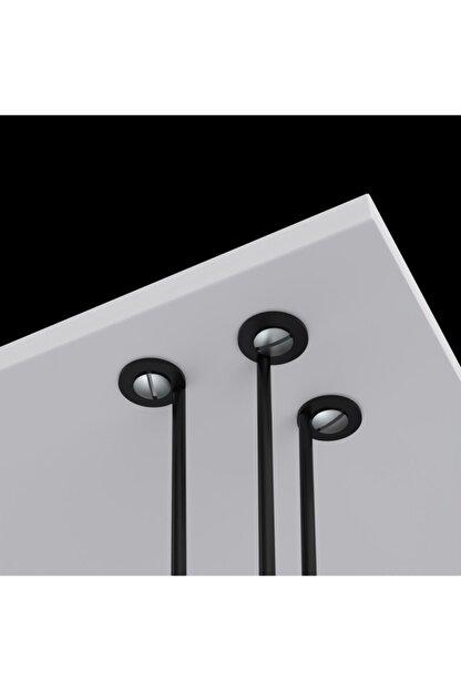 Kenzlife Larose Zigon Sehpa Ayağı Maşuk Siyah 3 Lü 50 Cm Yükseklik Metal Ayak Firkete Masa