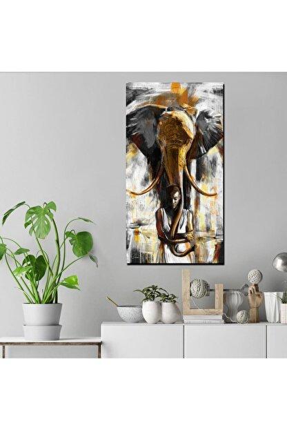 Canvas701 Fil Ve Kadın Yağlı Boya Kanvas Tablo (Ölçü: 60x120cm)