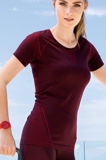 Yeni İnci Kadın Bordo Sporcu Tshirt