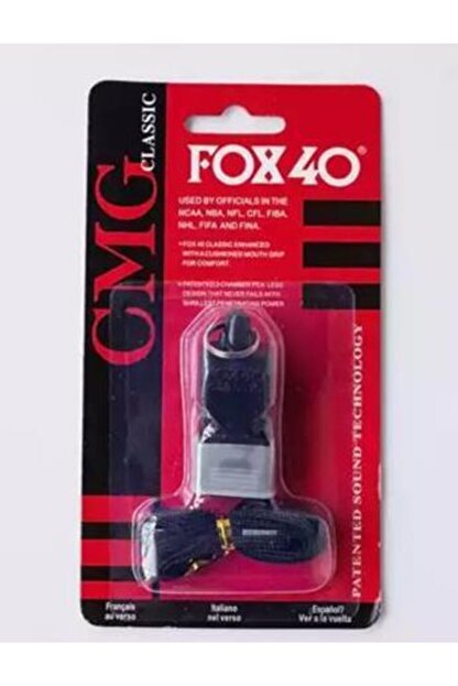 Fox 40 Siyah, Classic Düdük, Ağızlık Ve Boyun Ipi Hediyeli, Kutusunda