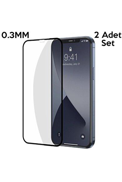 Baseus Iphone 12-12 Pro Uyumlu  6.1 0.3mm 3d Full Tempered Cam Ekran Koruyucu 2adet Set