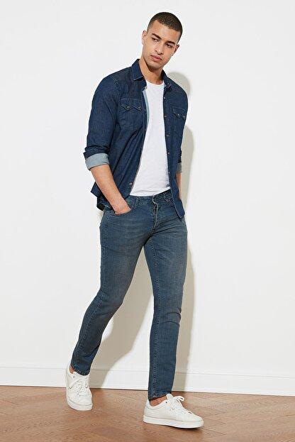 TRENDYOL MAN Indigo Erkek Denim Skinny Jeans TMNAW20JE0407
