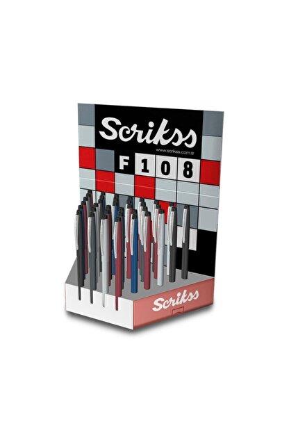 Scrikss F-108 Tükenmez Kalem Karışık Renklerde (36 Lı Paket)