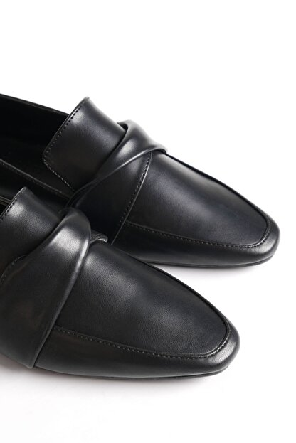 Marjin Dolinva Kadın Loafer Ayakkabısiyah