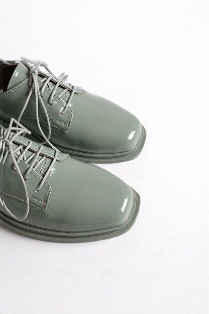 Marjin Kadın Yeşil Rugan Oxford Ayakkabı Rilen