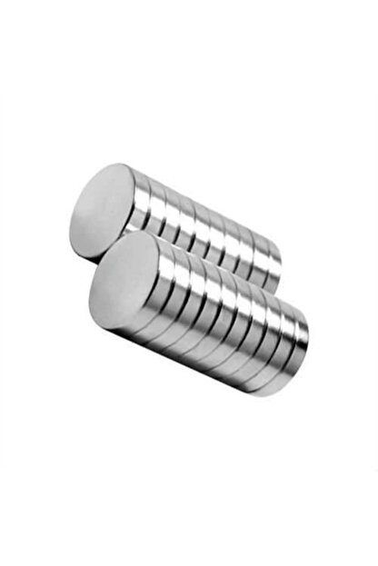 Dünya Magnet 10 Adet Çap 15mm x Kalınlık 3mm Yuvarlak Süper Güçlü Neodyum Mıknatıs