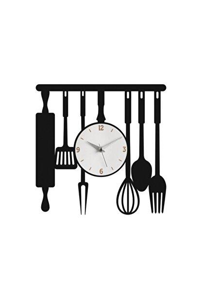 Morvizyon Mutfak Temalı Ahşap Duvar Saati