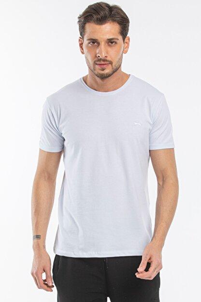 Slazenger Sannı Erkek T-shirt Beyaz St11te122