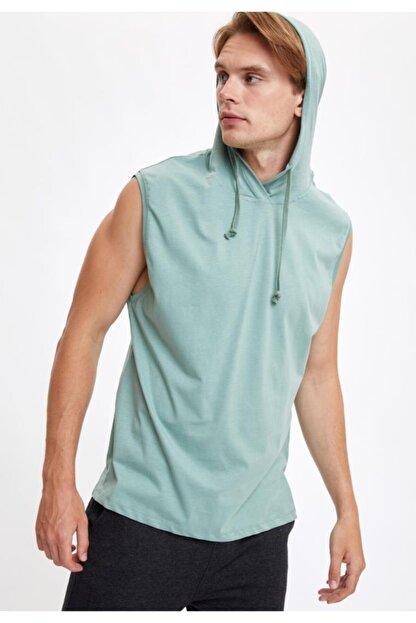 Defacto Kapüşonlu Slim Fit Kolsuz Pamuklu Tişört