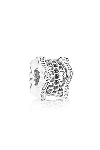 My Story Taşlı Dantel Gümüş Charm