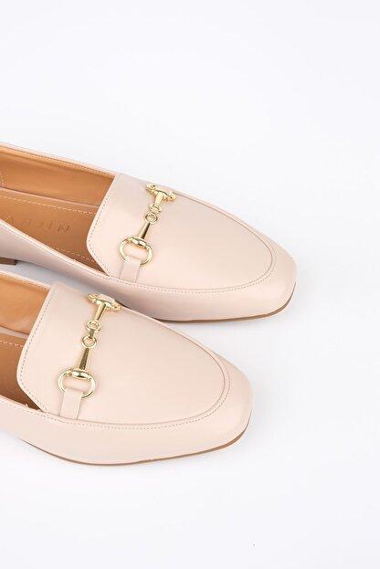 Marjin Kadın Bej Loafer Ayakkabı Bekla