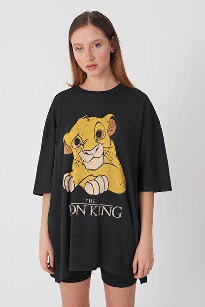 Addax Kadın Füme Baskılı T-Shirt P9365 - D10 Adx-0000021401